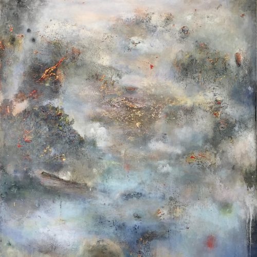 Chinese Landscape – 46 x40, acrylic on canvas, 2017