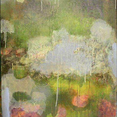 Through the Rain – 44 x 36, acrylic on linen, 2004, Private Collection