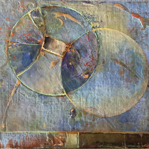 Vesica Piscis – 20 x 24, acrylic on canvas on board, 2015, private collection