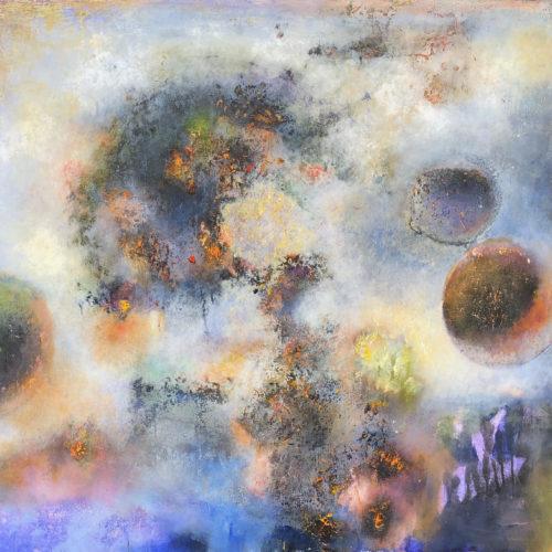 BREAKING WORLD 34x38 acrylic on canvas 2019