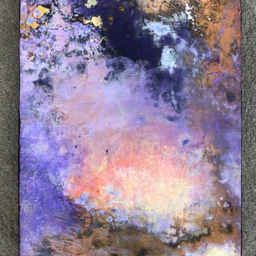 CLOUD IRISATION 9 x 6 acrylic on canvas on panel 2019
